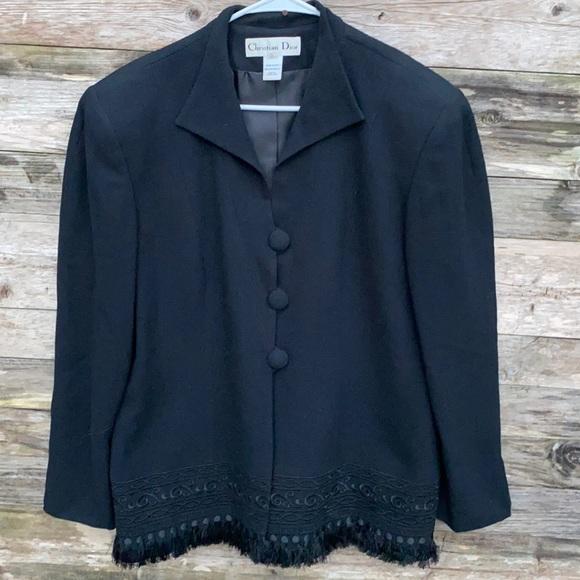 Christian Dior | Black Fringe Blazer Jacket 16